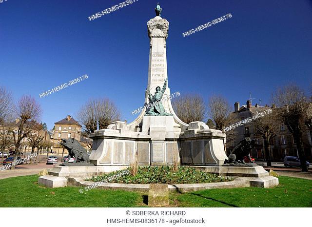 France, Ardennes, Sedan, Nassau Square, War Memorial World I