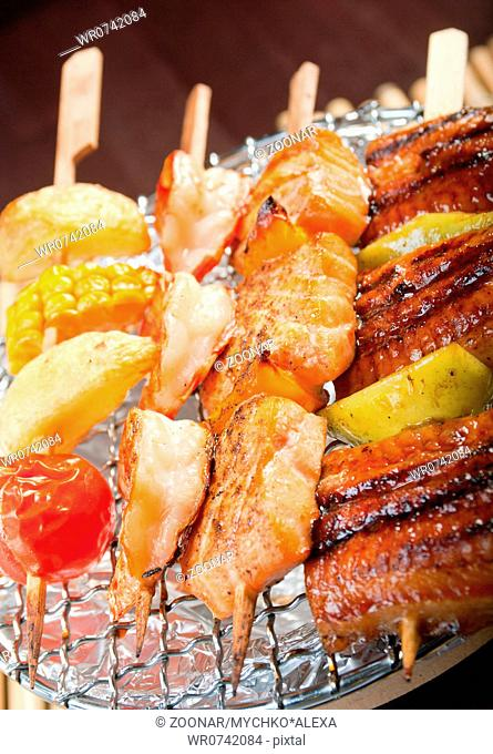Eel grilled barbecue Stock Photos and Images | age fotostock