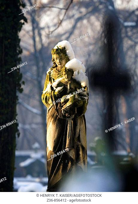 Poland Krakow Catholic Rakowicki Cemetery