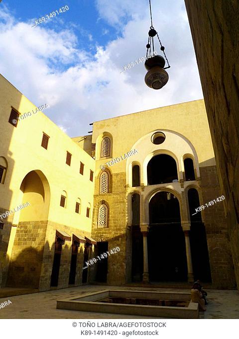 Madrasa Mausoleum of Sultan Qalawun, Al Mu'izz historic street, Cairo, Egypt