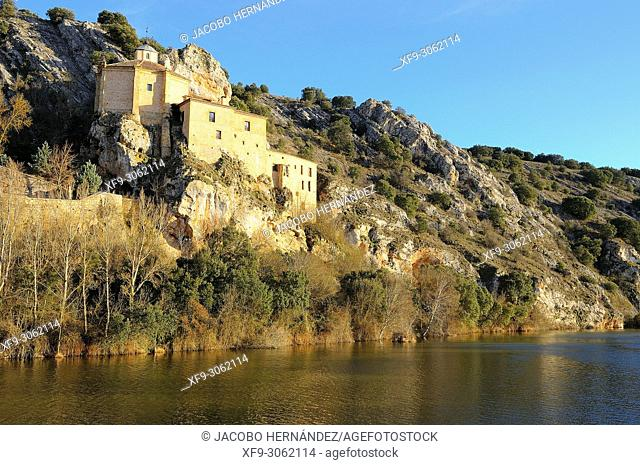 Hermitage of San Saturio on the Duero river. Soria. Castilla y León. Spain