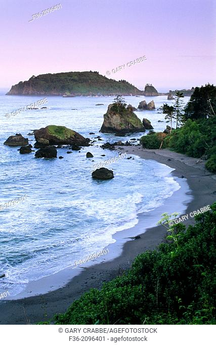Dawn over the north coast at Trinidad, Humboldt County, California