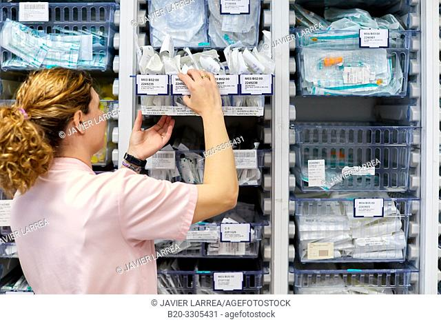 Pharmacy, Auxiliary with medical products, Delivery rooms, Hospital Donostia, San Sebastian, Gipuzkoa, Basque Country, Spain