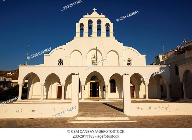 Orthodox Church in the old town Chora at the afternoon light, Naxos, Cyclades Islands, Greek Islands, Greece, Europe