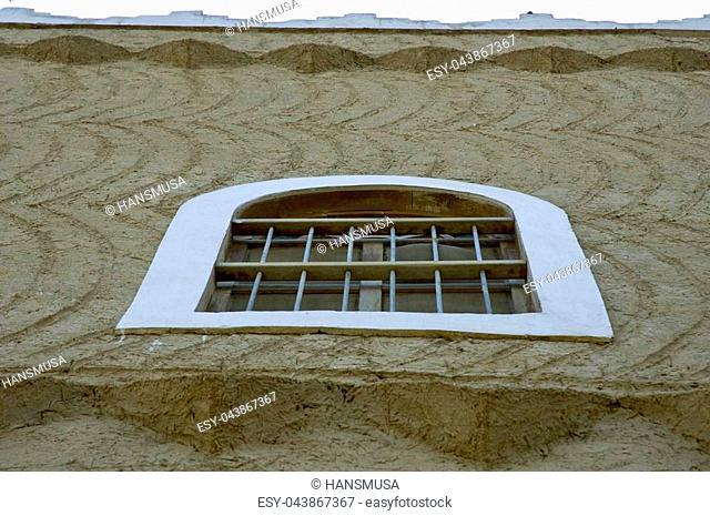 Bulding Windows and Details at King Abdul Aziz Historical Center in Riyadh, Saudi Arabia