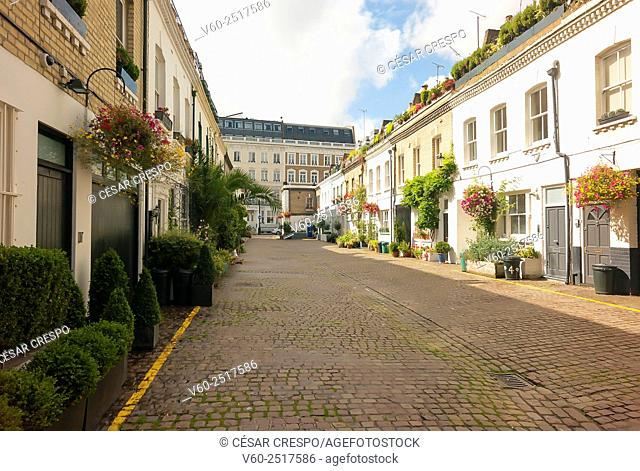 -Street in Earl's Court Zone- London United Kingdom