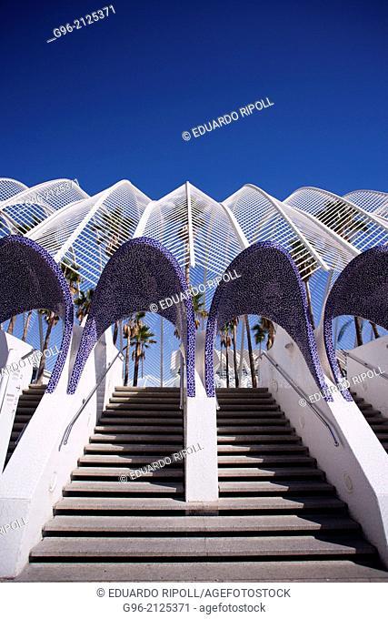 The umbracle at Ars & Science City at Valencia, by Santiago Calatrava