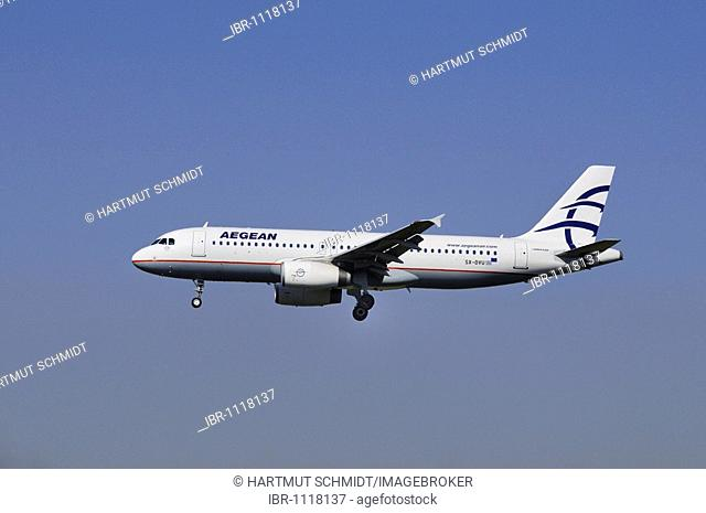 Airbus A 320, airplane of Aegean Air, Greek Airline Aegean Airways