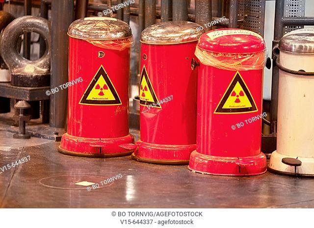 Radioactive waste. Copenhagen. Denmark
