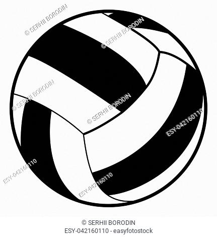 Volleyball ball it is black color icon