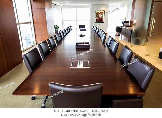 Florida, Miami, conference room, long table, chairs, empty, office