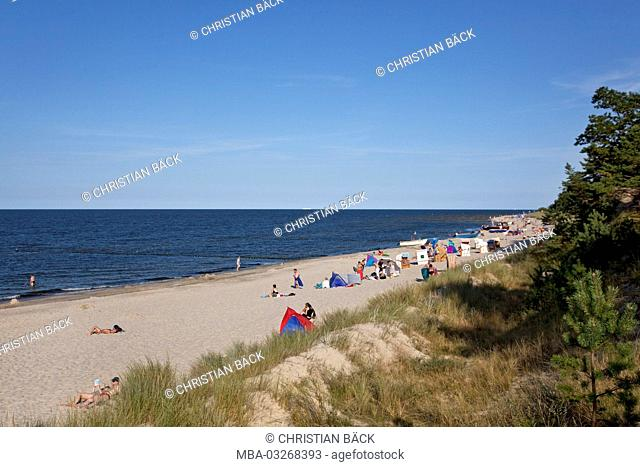 Beach in Zempin, Usedom island, Mecklenburg-Western Pomerania, Germany