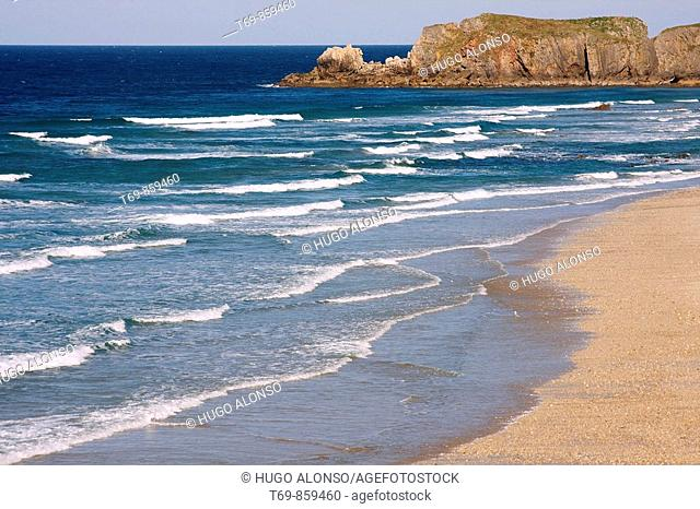 Beach in the north of Spain (Llanes - Asturias)