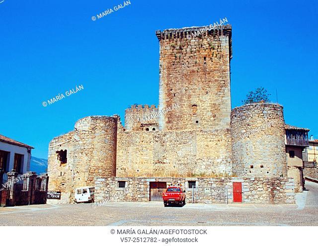 Castle. Miranda del Castañar, Salamanca province, Castilla Leon, Spain