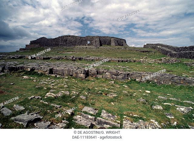Dun Aengus, prehistoric stone fort, Inishmore (or Inis Mor), Aran Islands, Ireland, Bronze Age