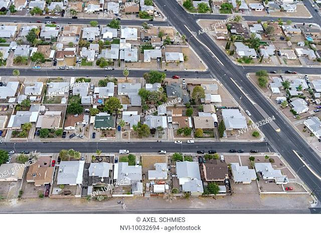 Aerial view from helicopter, Las Vegas, Nevada, USA