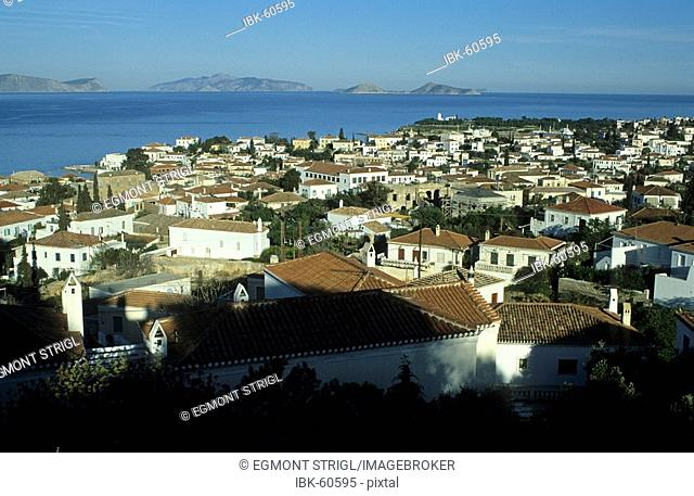 View of Spetses island, saronian islands, Greece