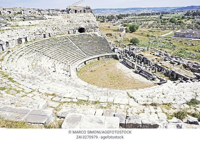 Roman theatre, Miletus, Anatolia, Turkey, Asia Minor, Asia