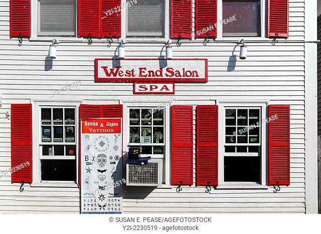 West End Salon, Provincetown, Massachusetts, USA