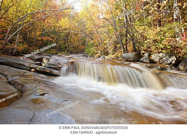 Swift River during the autumn months near the Kancamagus Highway route 112 which is one of New England's scenic byways  Located in the White Mountains