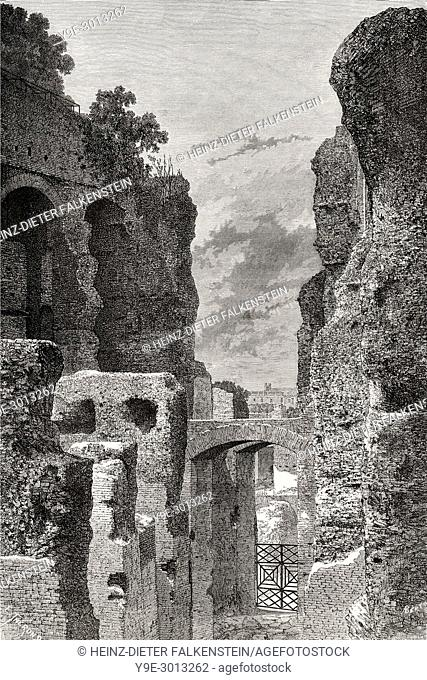 Restoration of the Clivus Victoriae, Rome, Italy, 19th Century