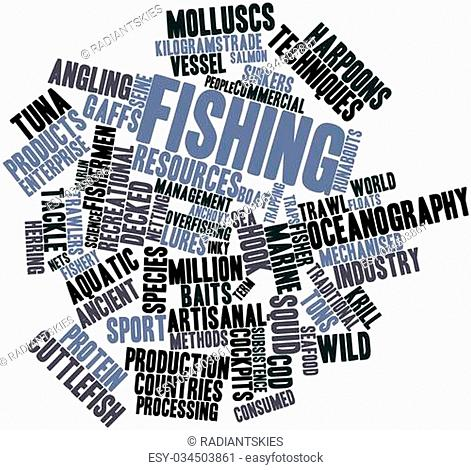 Abstract word cloud for Fishing with related tags and terms