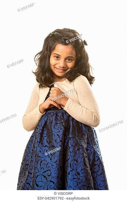f7c6fd0350 Indian girl namaste greeting, Stock Photo, Picture And Low Budget ...
