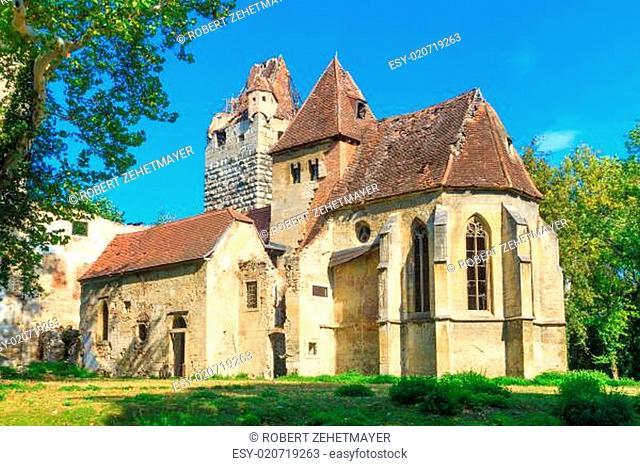 Pottendorf Castle and Gothic Church Ruins near Eisenstadt, Austria