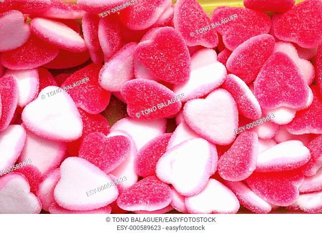 jelly sweets candy pink white heart shape valentines day metaphor