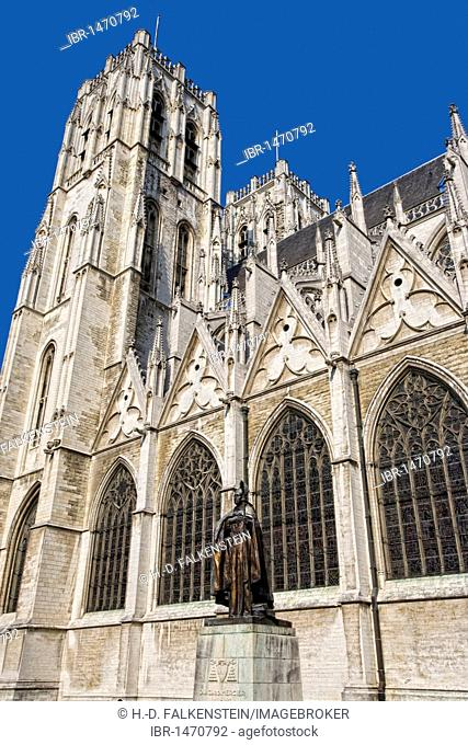 St. Michael and St. Gudula Cathedral, Brussels, Belgium, Europe