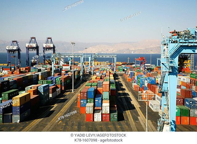 The port of Aqaba, Jordan