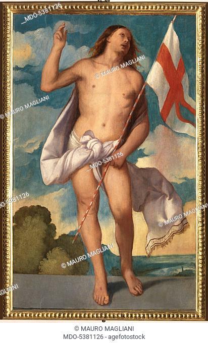 Risen Christ (Cristo risorto), by Titian, 16th Century, oil on canvas, 133 x 82 cm