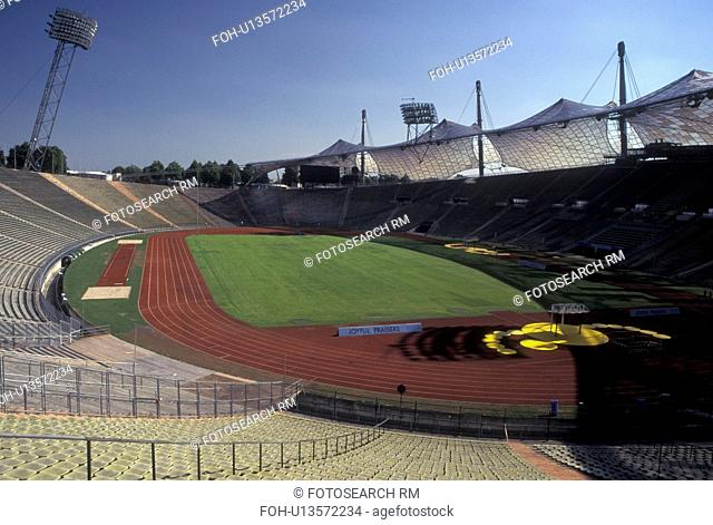 Munich, Germany, Bavaria, Munchen, Europe, Olympic Stadium at Olympia Park