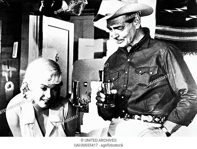 MISFITS - NICHT GESELLSCHAFTSFÄHIG / The Misfits USA 1961 / John Huston MARILYN MONROE, CLARK GABLE, 'The Misfits', 1961. Regie: John Huston aka