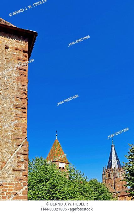 Schartenturm, 14.Jh., Türme, Kloster, Kirche, Saints-Pierre-et-Paul