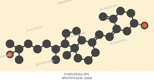 Calcifediol (calcidiol, 25-hydroxyvitamin D) molecule. Blood marker of vitamin D status. Stylized skeletal formula (chemical structure)