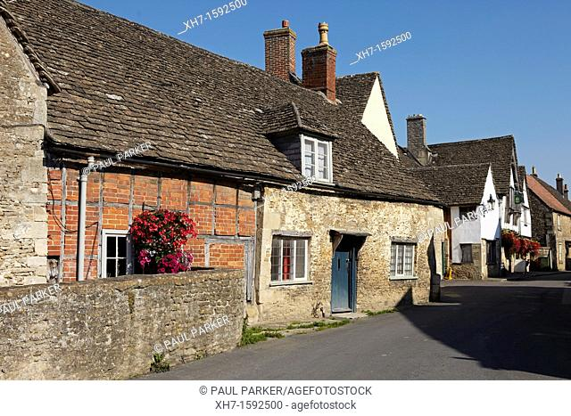 Cottage in Lacock Village, Wiltshire, England, UK