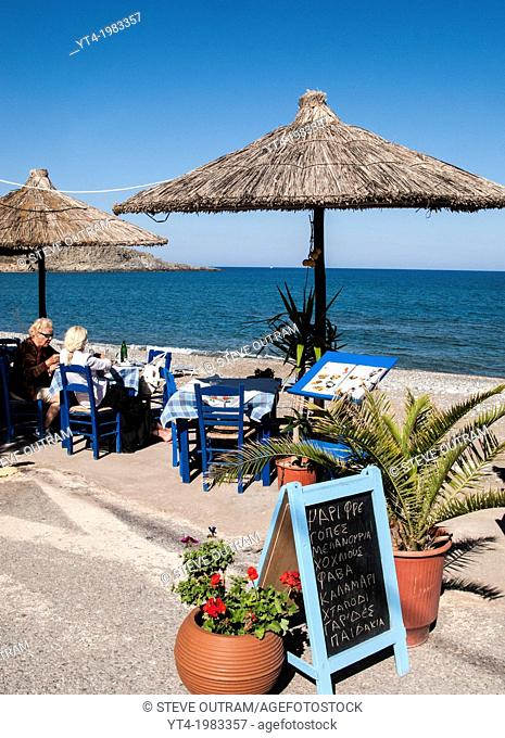 Seaside Taverna in Kato Zakros, East Coast, Crete, Greece