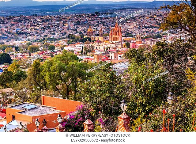 San Miguel de Allende, Mexico, Miramar Overlook Parroquia Archangel Church Wide, Churches Houses