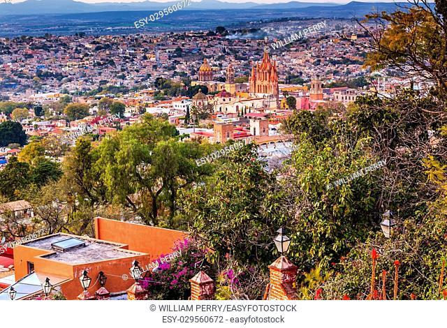 San Miguel de Allende, Mexico, Miramar Overlook Parroquia Archangel Church Wide, Churches Houses