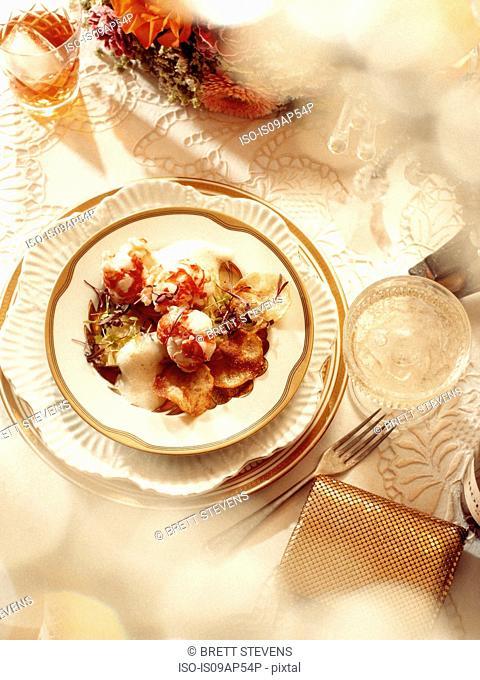 1920s style dinner scene - Lobster Medallion