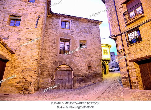 Stone pavement street of Yanguas, Soria, Spain