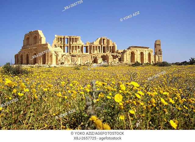 libya, Archaeological rests of sabratha