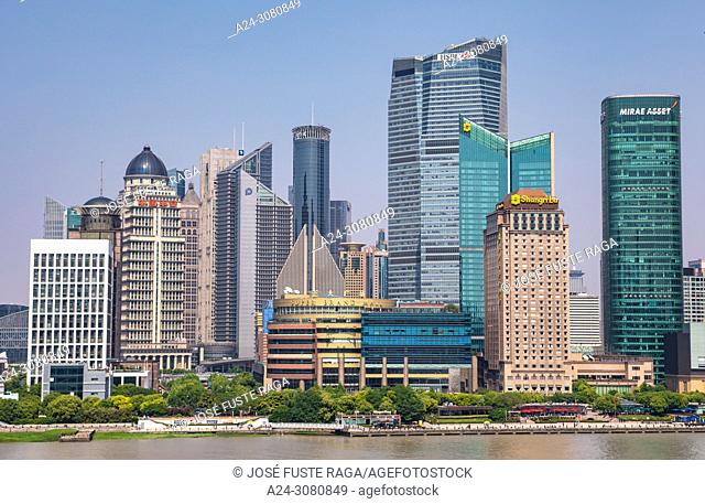 China, Shanghai City, Pudong District, Lujiazui Area Skyline