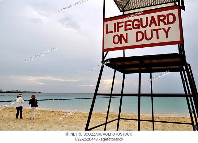 Ginowan, Okinawa, Japan: Tropical Beach during the low season