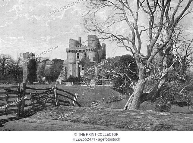 'Hurstmonceux Castle', 1903. Herstmonceux Castle is a brick-built castle near Herstmonceux, East Sussex, England. From 1957 to 1988 its grounds were the home of...