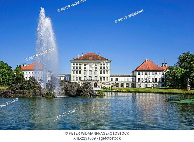 Nymphenburg Palace in Munich, Bavaria, Upper Bavaria, Germany, Europe