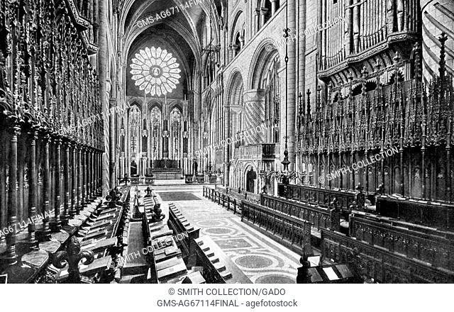Choir of Durham Cathedral, United Kingdom, 1922