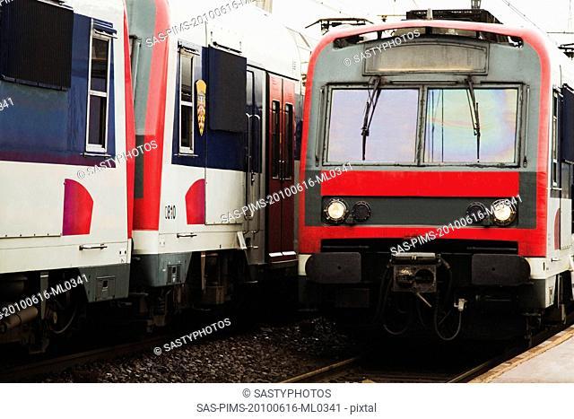 Trains at a station, Paris, France