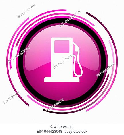Petrol pink glossy web icon isolated on white background